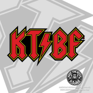 "6"" vinyl KTBF ""AC/DC"" sticker/decal"