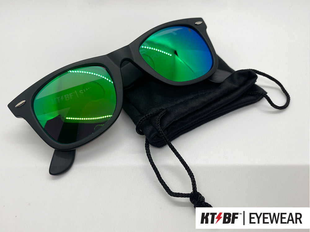 KTBF™ | SHIELD polarized sunglasses - Matte Black / Green Mirror