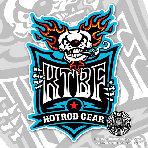 "KTBF ""Berzerk"" The Hot Rod Klown sticker/decal"