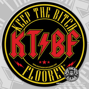 "4"" vinyl KTBF ""Concert"" sticker/decal"