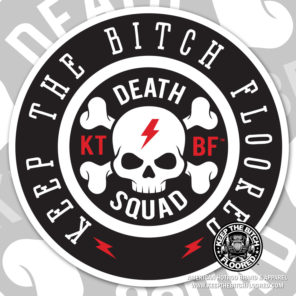 "4"" vinyl KTBF ""Death Squad"" sticker/decal"