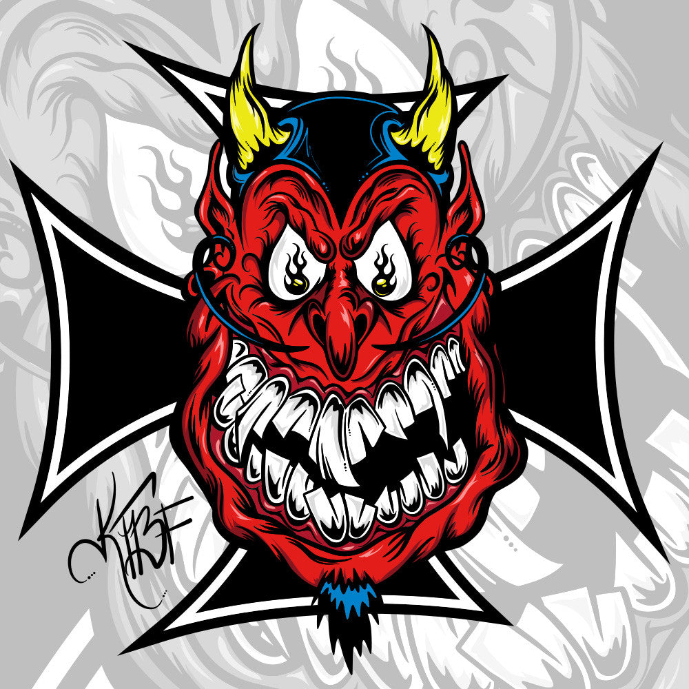 Ktbf devil hot rod decal