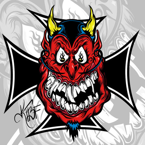 """KTBF Devil"" Hot Rod Decal"