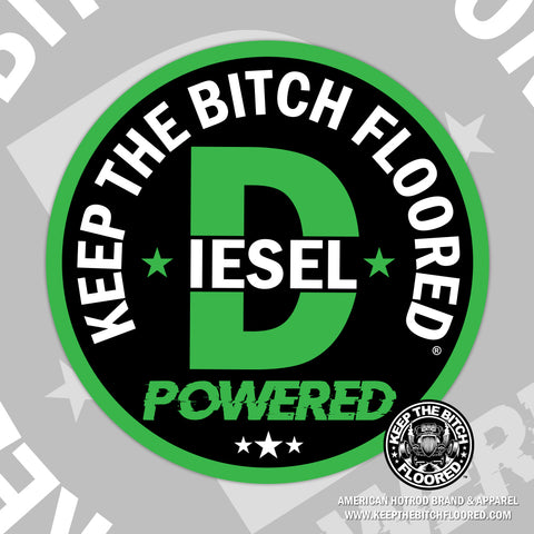 "4"" vinyl KTBF ""Diesel Powered"" sticker/decal"