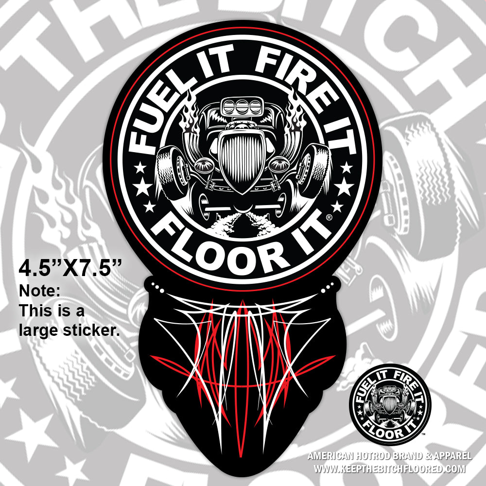 "7.5"" vinyl FFF ""Pinstripe"" sticker/decal"