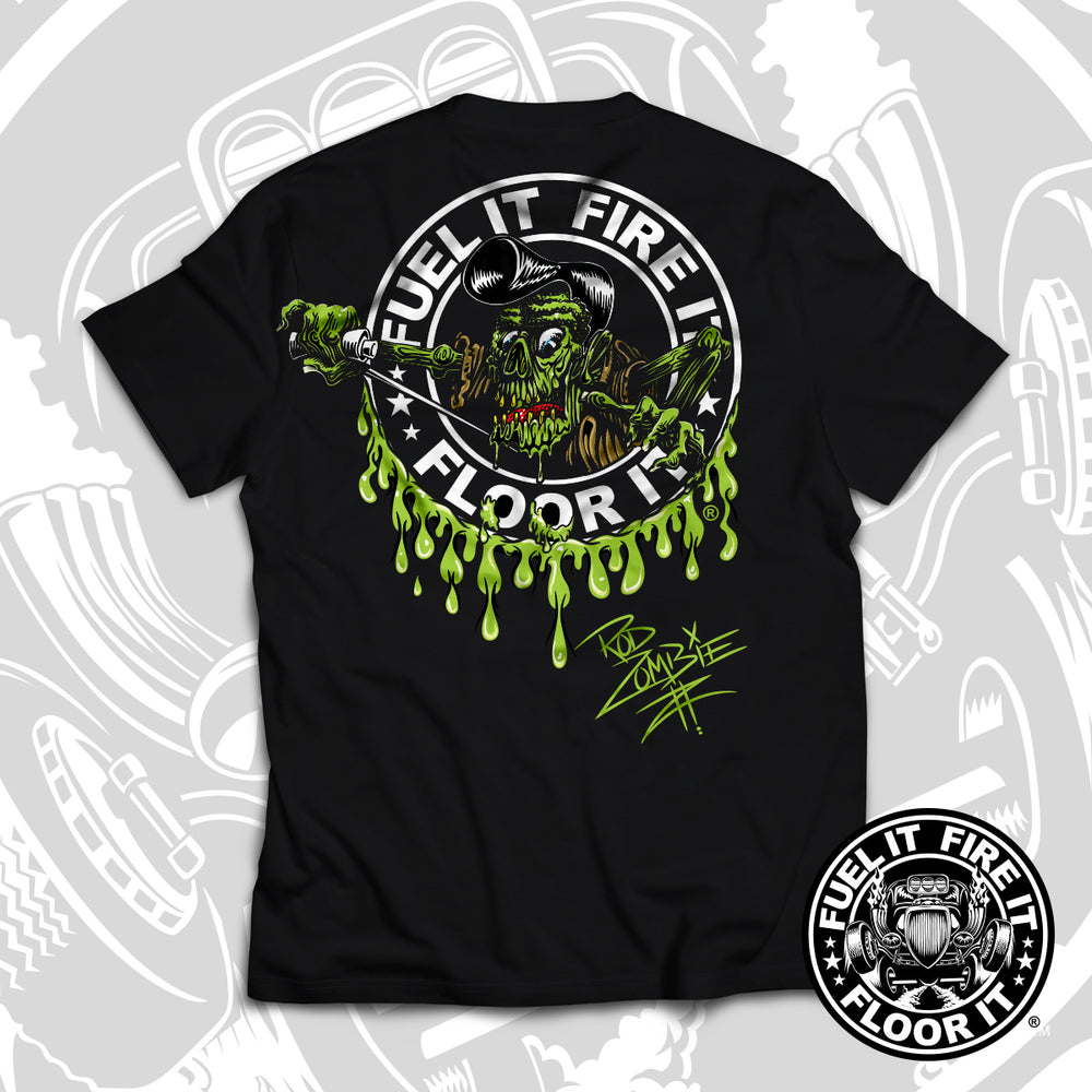 "FUEL IT, FIRE IT, FLOOR IT - ""Rod Zombie"" short sleeve"
