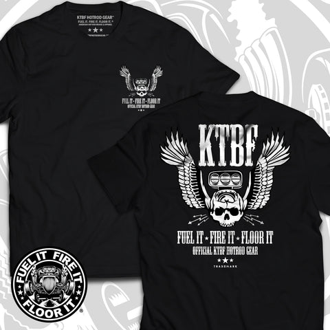 "FUEL IT, FIRE IT, FLOOR IT - ""Skull-N-Wings"" short sleeve"