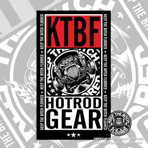 "6"" vinyl KTBF ""Film Strip"" sticker/decal"