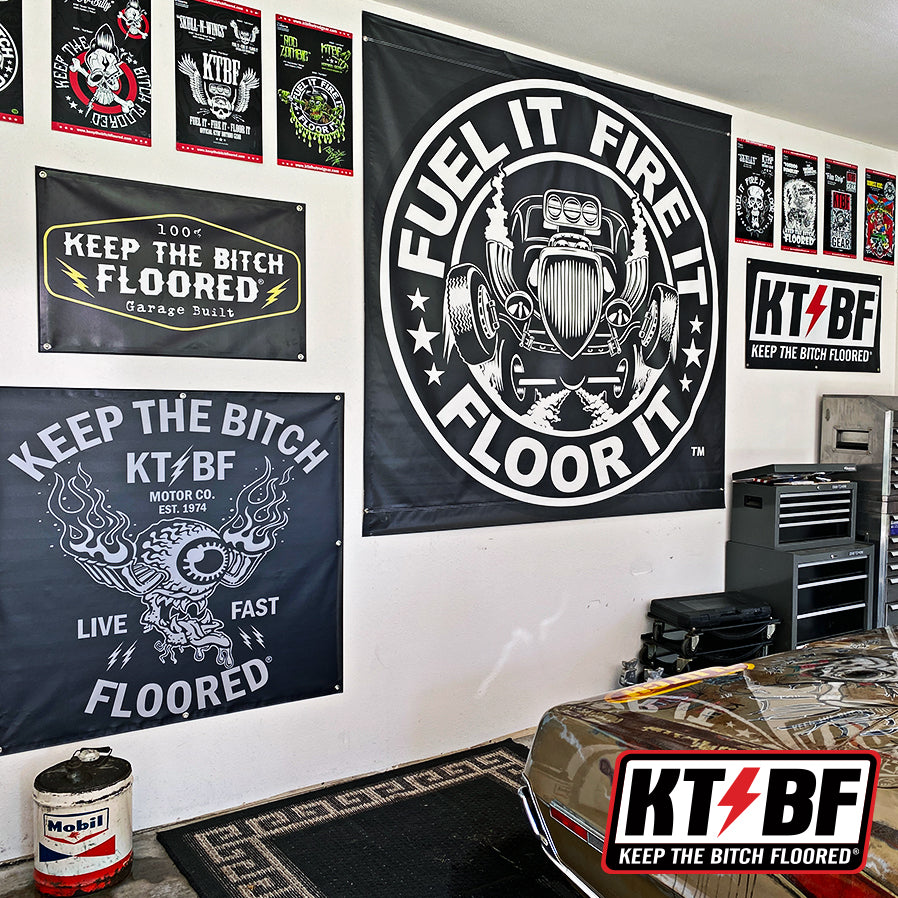 "KTBF ""Shift-A-Billy"" Garage Banner 