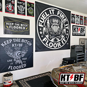 "KTBF ""Shield"" Garage Banner - 2X4'"