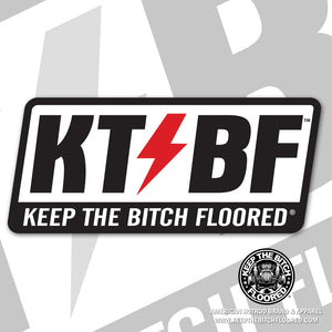 "6"" vinyl KTBF ""Shield"" sticker/decal"