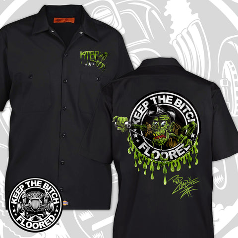 "KTBF ""Rod Zombie"" garage shirt 