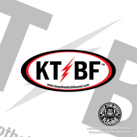 "5"" vinyl ""KTBF Lightning Bolt"" sticker/decal"