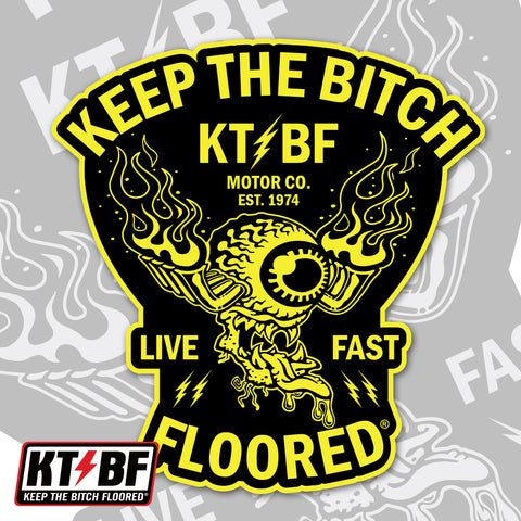 "KTBF ""Live Fast"" sticker/decal"