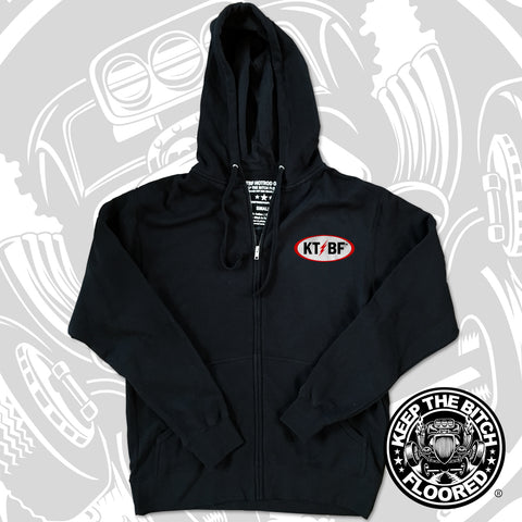 "KTBF ""Retro Rod"" Zipper Hooded Sweatshirt"
