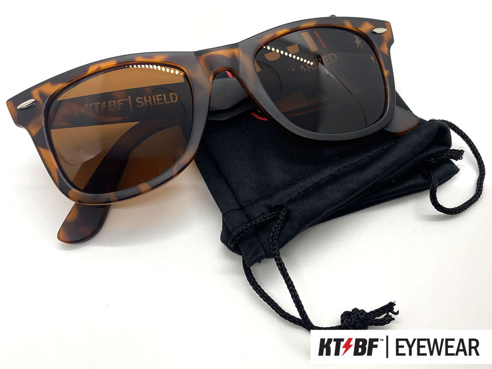 KTBF™ | SHIELD polarized sunglasses - Tortoise Shell / Brown