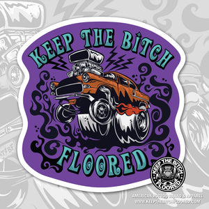 "4"" vinyl KTBF ""Trippin' 55"" sticker/decal"