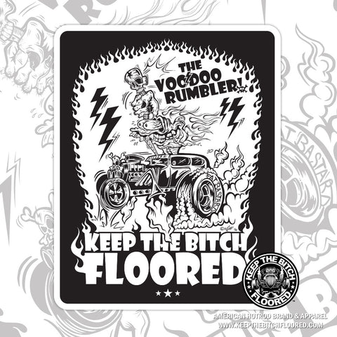"5"" vinyl ""VooDoo Rumbler"" sticker/decal"