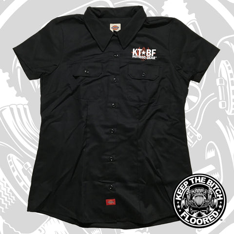 "Womens KTBF ""PINSTRIPE"" garage shirt 