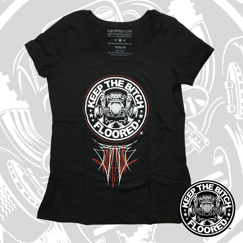 "KTBF Womens ""Pinstripe"" Scoop Neck"