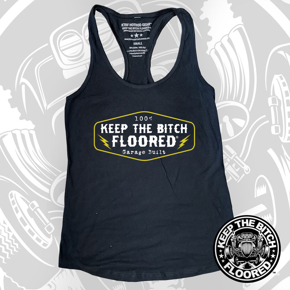 "KTBF Womens ""100% Garage Built"" Tank Top"