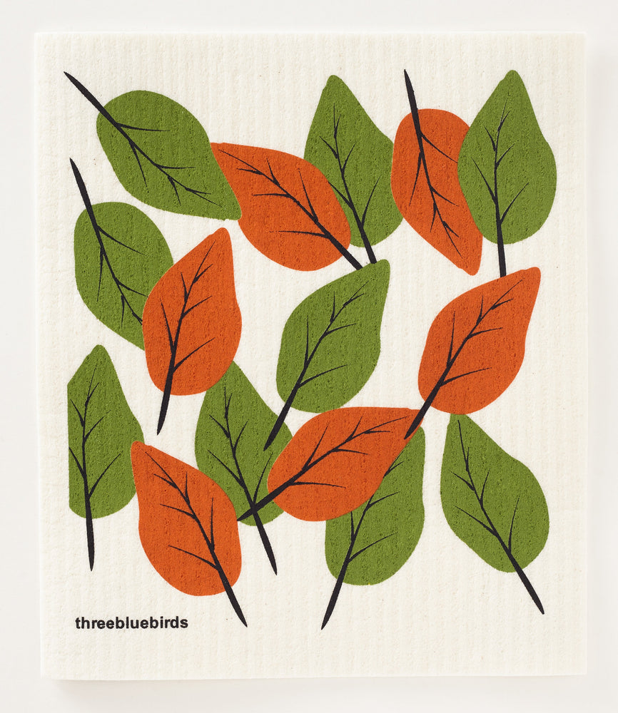 Autumn Leaves Swedish Dishcloth
