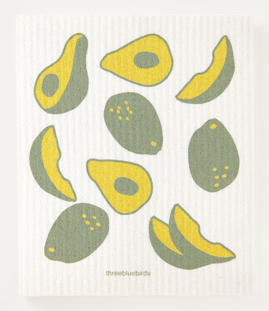 Load image into Gallery viewer, Avocados Swedish Dishcloth