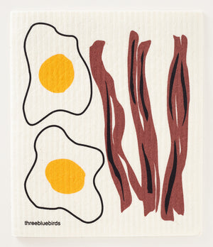Bacon & Eggs Swedish Dishcloth