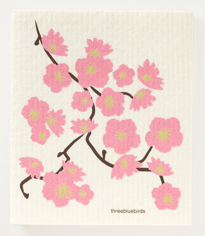 Load image into Gallery viewer, Cherry Blossoms Swedish Dishcloth