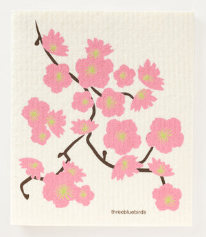 Cherry Blossoms Swedish Dishcloth