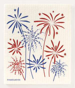 Load image into Gallery viewer, Fireworks Swedish Dishcloth