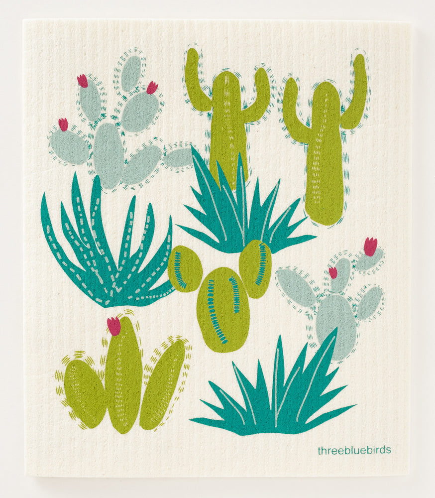 Cacti Swedish Dishcloth