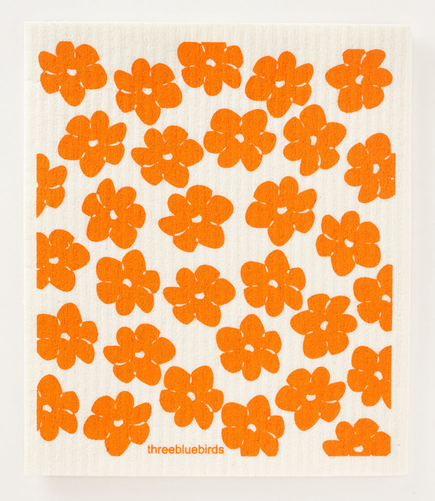 California Poppies Swedish Dishcloth
