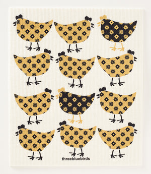 Country Chickens Swedish Dishcloth