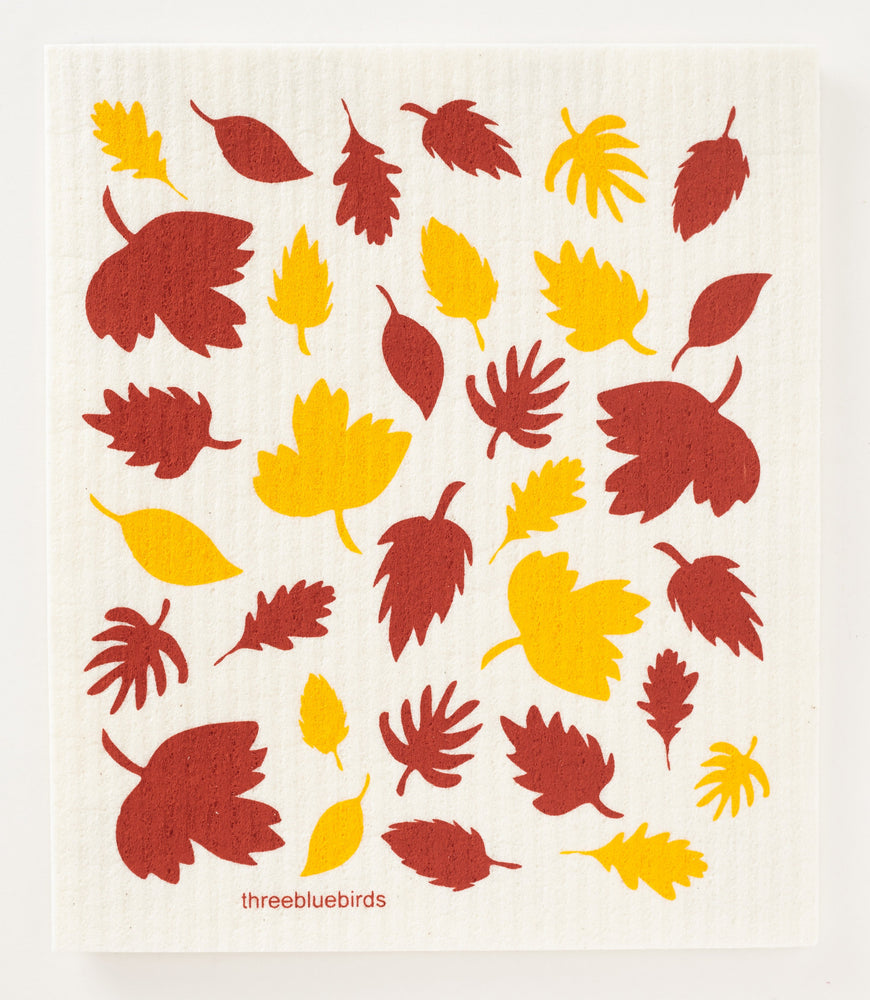 Load image into Gallery viewer, Fall Foliage Swedish Dishcloth
