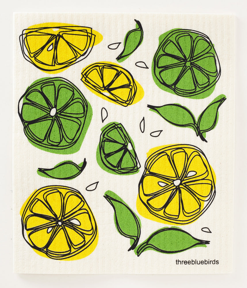 Lemon Limes Swedish Dishcloth