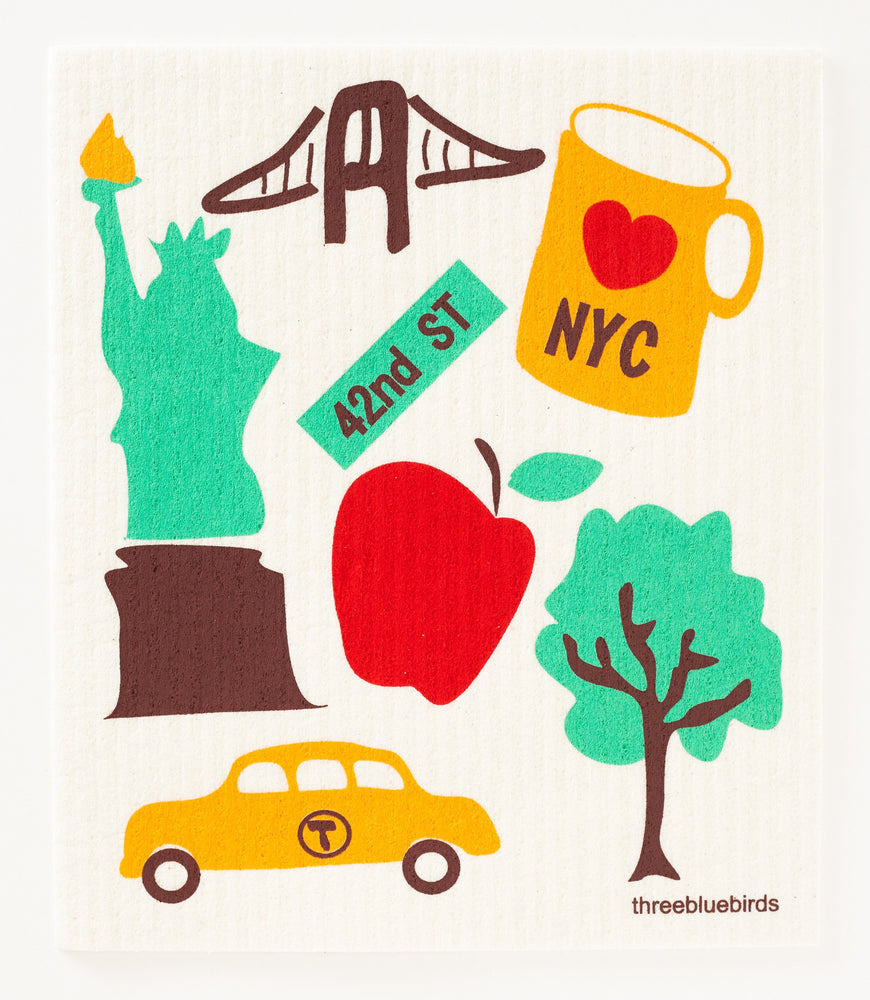 Love NYC Swedish Dishcloth