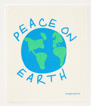 Peace on Earth Swedish Dishcloth