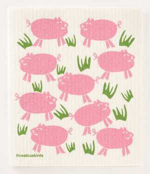 Load image into Gallery viewer, Piggies Swedish Dishcloth