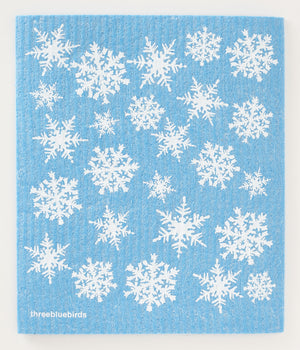Snowflakes Swedish Dishcloth