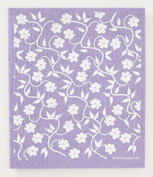 Load image into Gallery viewer, Vines on Purple Swedish Dishcloth