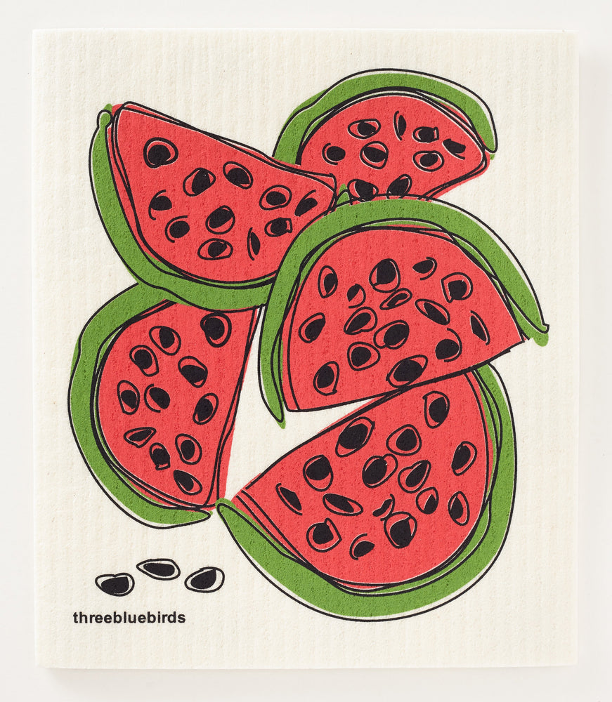 Load image into Gallery viewer, Watermelon Swedish Dishcloth
