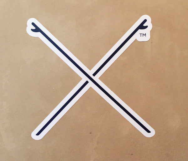 Crossed Boards Sticker