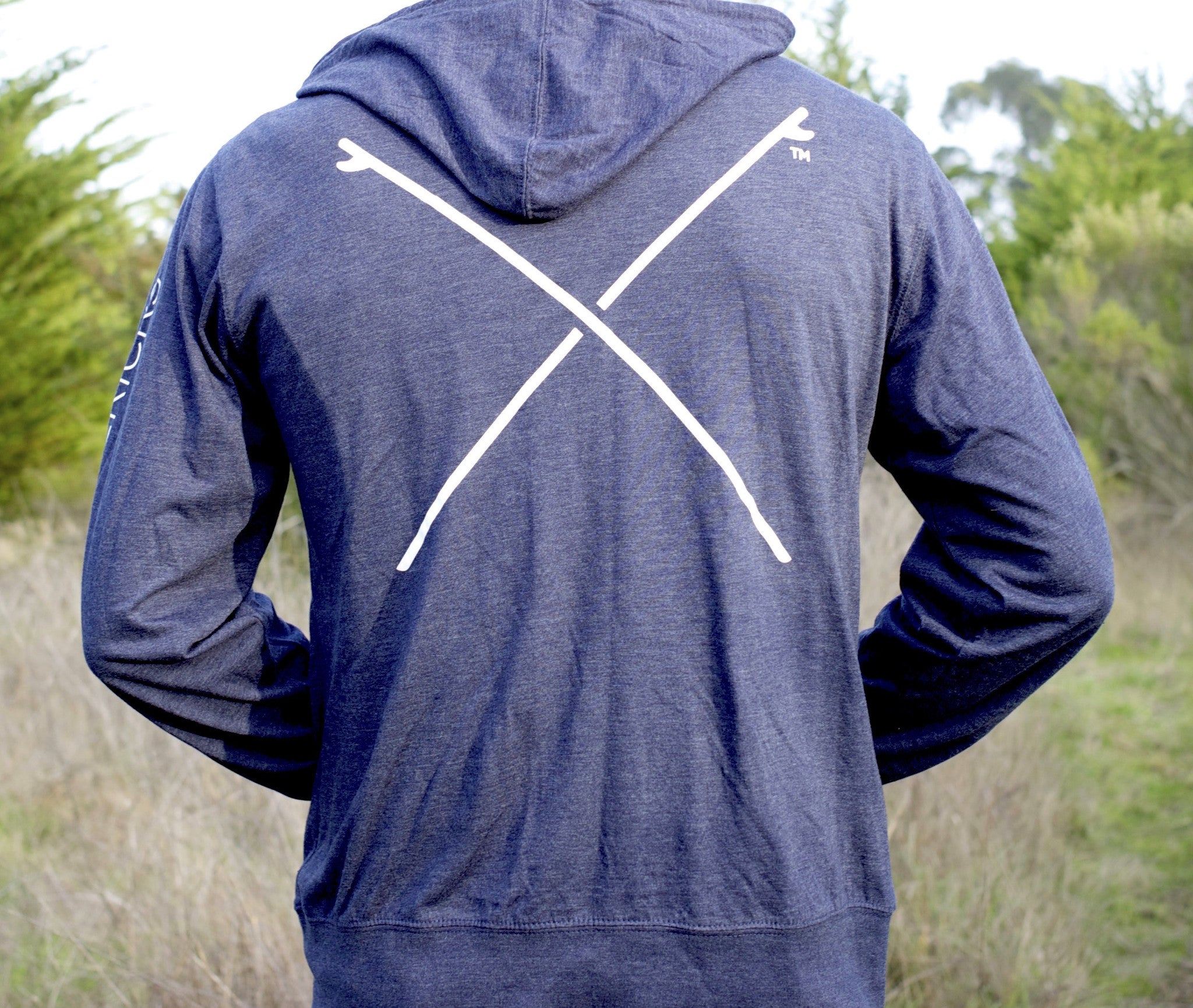 Lightweight Crossed Boards Zip Up