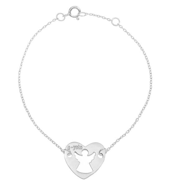 Angel Heart Silver Bracelet (46 EUR), Bracelet - Guardian Yolo Jewelry