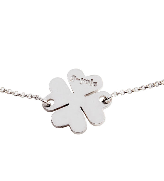 Heart Clover Silver Necklace (49 EUR), Necklace - Guardian Yolo Jewelry