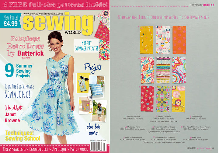 My Fabric House® press page fabrics featured in many major magazines