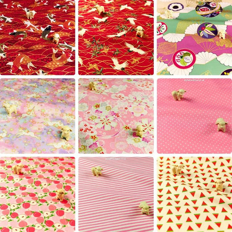 ❤ BACK IN STOCK ❤ July ❤ Red & Pink Cotton Fabrics