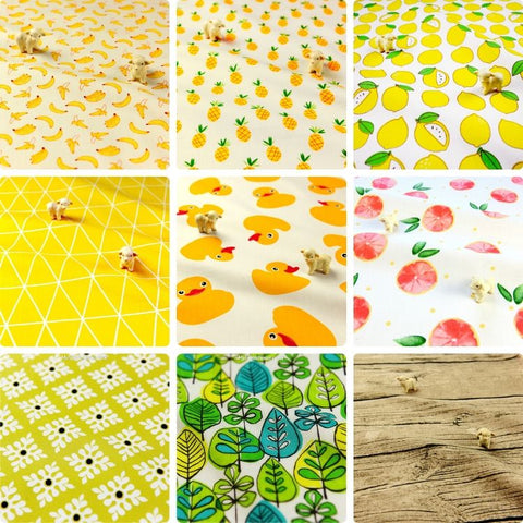 ❤ BACK IN STOCK ❤ July ❤ Yellow & Green Cotton Fabrics