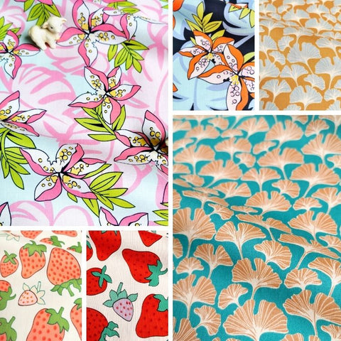 ❤ NEW IN ❤ September ❤ Floral & Fruits Cotton Fabrics